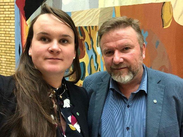 Bengt Fasteraune og Marit K. Strand, stortingsrepresentanter for Senterpartiet