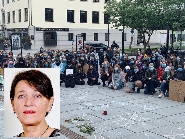 """Bodø bystyre har vedtatt en fornuftig tilnærming til problemet rasisme. Bildet er fra demonstrasjonen """"Black Lives Matter"""" tidligere i uka."""