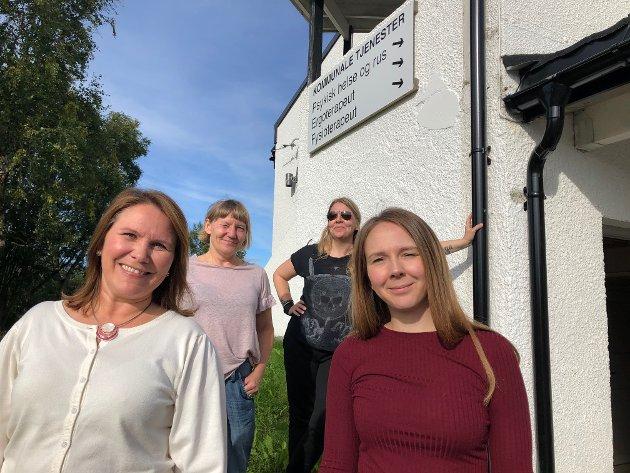 Bak fra venstre, Kjerstin Britten og Maria Nyksund, foran fra venstre, Karianne B Bråthen og Iselin Knudsen