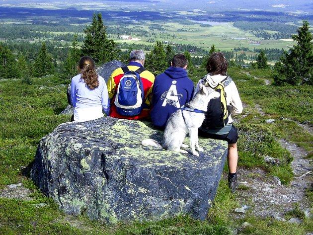 GLANSBILDET: Det er slik mange familier fremstår nå i fellesferien, men ikke alle har råd til en ferie i Norge.