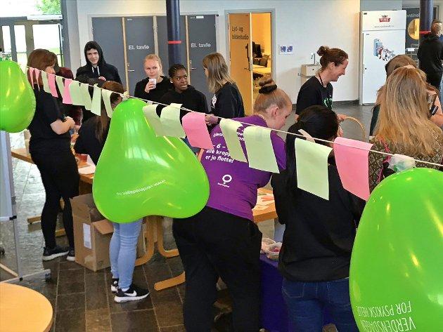 Verdensdagen for psykisk helse ved Flora Vidaregåände skole