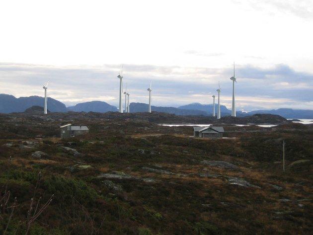 KATASTROFE: Naturkatastrofe er rette begrepet på dette vindkraftprosjektet, og dette kan nok nærmere erfares/oppleves kort tid etter driftsstart, skriv artikkelforfattaren. B ildet er frå konsesjonssøkanden om Lutelandet energipark.