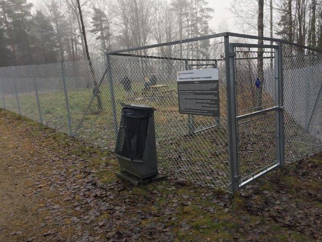 Vivian Smebøl er full av begeistring for hundeparken.