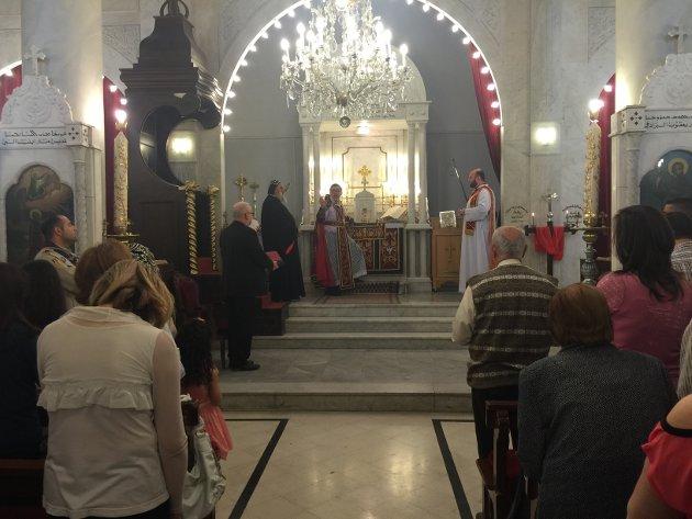 Biskop Atle Sommerfeldt deltok på messe i den syrisk-ortodokse kirke i Damaskus.  Det er verdens eldste nålevende kirke. Liturgien er hovedsaklig på armeisk, samme språk som Jesus snakket.