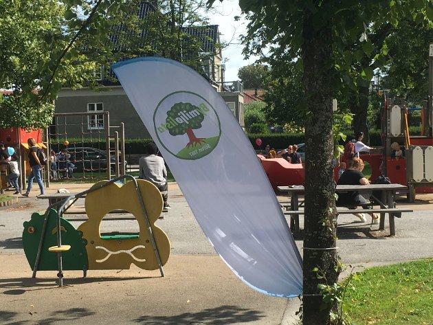 Aktivitetsparken for barn i Kirkeparken som Bymiljølista fikk igjennom.