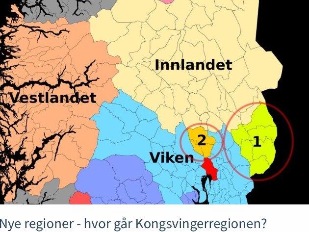 Røster i utkantene av regionreformens nye giganter roper allerede om overgang til naboen. Slike gryende oppløsningstendenser ser vi for eksempel lengst sør i Hedmark.