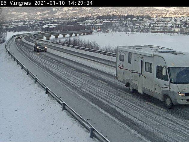E6 ved Lillehammer, sett fra Vingnessiden.