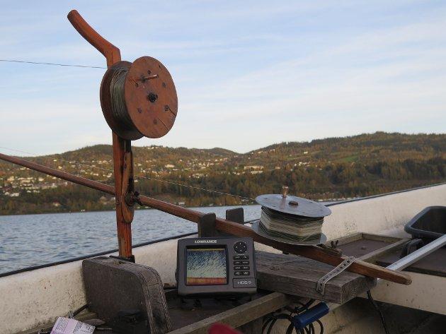 Dorging (dregging) med gammelt fiskeutstyr