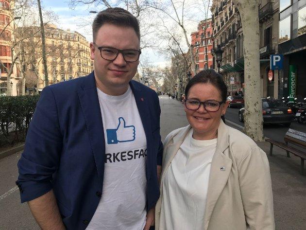 ORDFØRERKANDIDATER: Kari-Anne Jønnes (H) fra Hadeland utfordrer Even Aleksander Hagen (Ap) fra Gudbrandsdalen som fylkesordfører.
