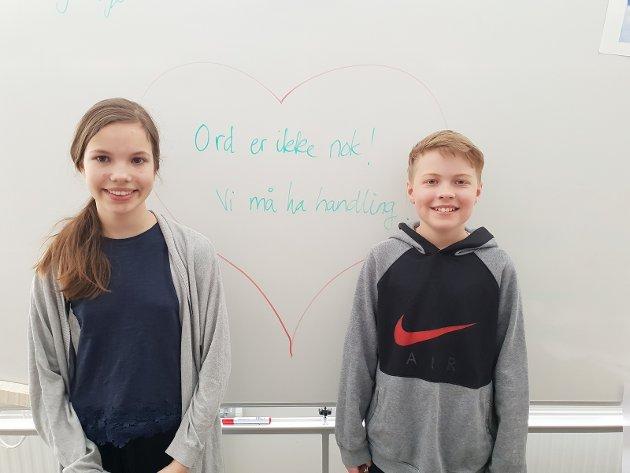 Julie og Heine: Ord er ikke nok, vi må ha handling!