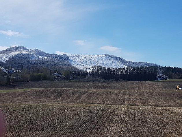 SNØ: Snø på Buhammeren.