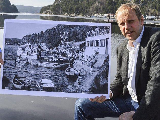 VISJONÆR: Ole Kristian Sørlie har store planer for Rødnabbene i Iddefjorden.Foto: Thomas Lilleby