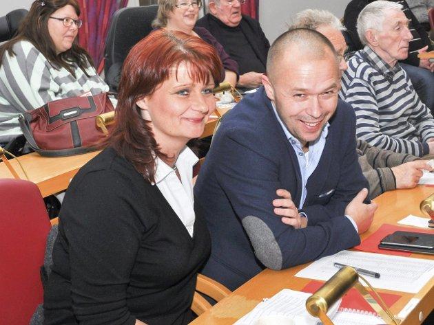 Fordeling: Kirsti Brække Myrli blir partileder, og Arve Sigmundstad gruppeleder. Foto: Ø. Kvitnes