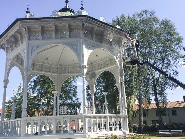 MER LIV: Kjetil Aabø vil at musikkpaviljongen i Busterudparken skal brukes mer.