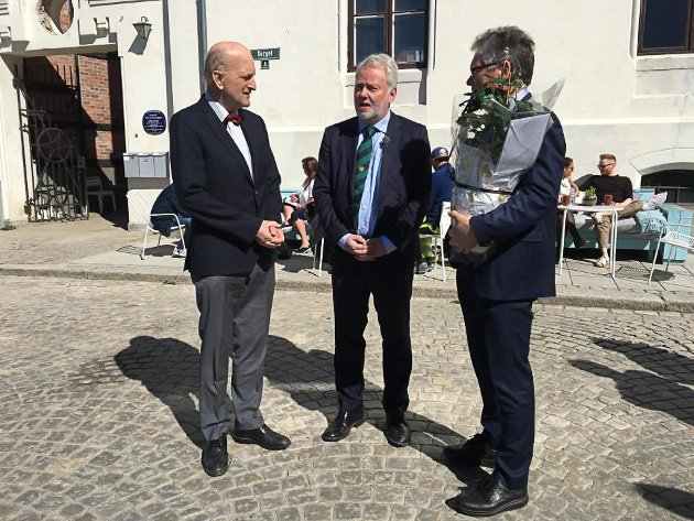 Rolf B. Wegner (fra venstre), Holme og Thor Edquist.