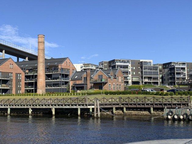 EKSEMPEL 1: På Nabbetorp, rett under Fredrikstad-broa på Østsiden, er det bygget nye boliger i både ny og gammel stil. Alle foto: Thor Edquist