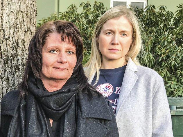 Vingling I AP: Partileder Kirsti Brække Myrli (t.v.) og ordførerkandidat Linn Laupsa.