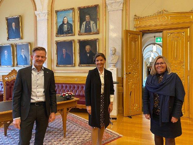 INNLEGG: Innlegget er skrevet av stortingsrepresentantene Tage Pettersen (fra venstre), Ingjerd Schou og Anne Kristine Linnestad.