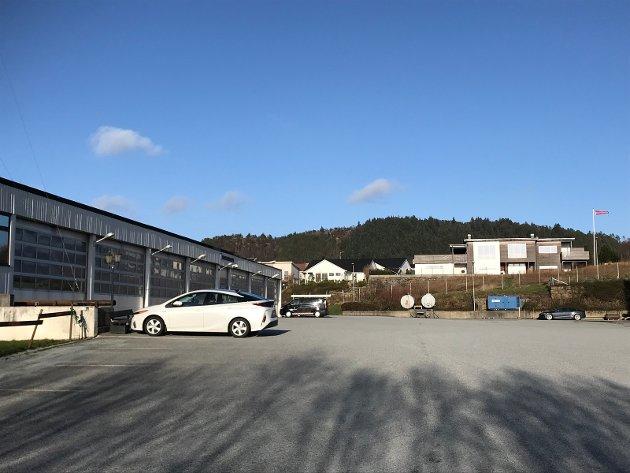 Dagens brannstasjonsområde i Haugesund på Storasund