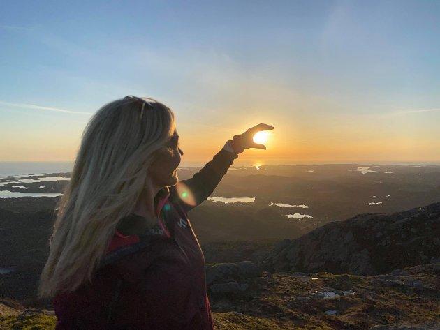 #instamoment #topptur #norgesferie #solnedgang #siggjo