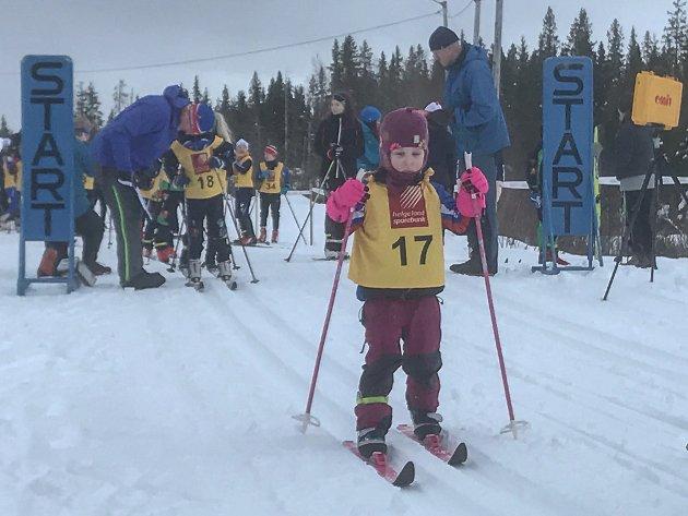Kjærstadrennet 2020. Signe Eilertsen fra Kjærstad IL deltok i klassen 0-7 år.