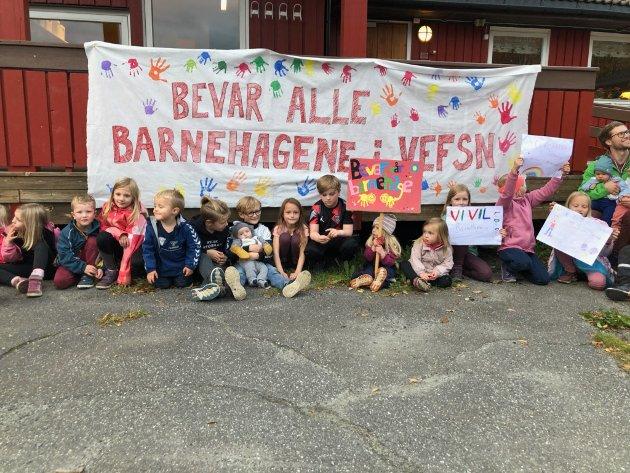 MOTSTAND: Rødt støtter protestene mot å legge ned Olderskog barnehage.