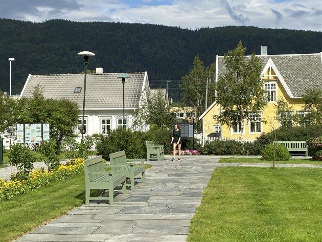 SENTRALT: Byparken i Mosjøen! Fantastiske stauder, flotte grusganger, mange benker. En grønn lunge midt i byen. Består av 1900-parken, 1948-parken og 2000-parken. Med paviljong fra 1937. Trærne i Byparken eies av private.