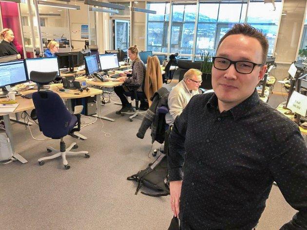 Distriktsredaktør Robin Mortensen i NRK Finnmark fotografert ved en tidligere anledning.