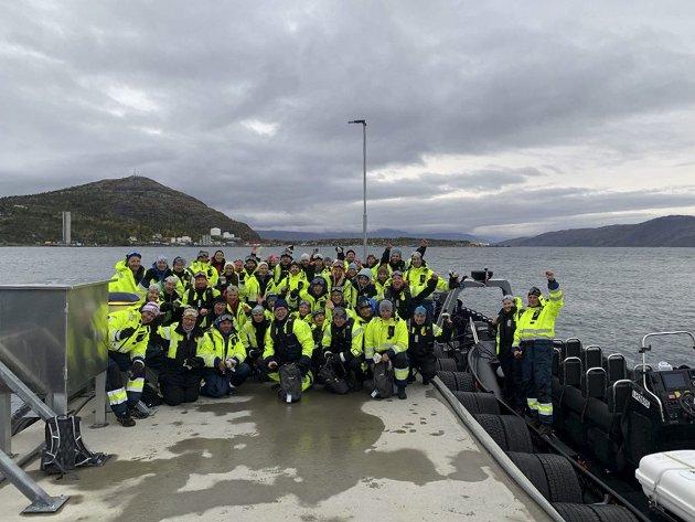 Best: Dette bildet viser en del av Amedia-lederne som besøkte Alta og Finnmark denne uka. Amedia har satset kraftig på gode produkter, og vil komme med flere nyvinninger fremover.