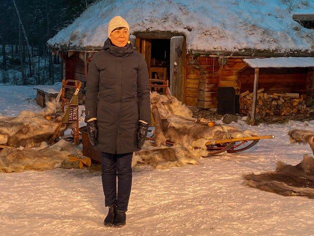 LA FREM MELDINGEN: Mens statsminister Erna Solberg holdt sin tale fra Oslo, var utenriksminister Ine Marie Eriksen Søreide i Alta for å legge fram nordområdemeldingen.