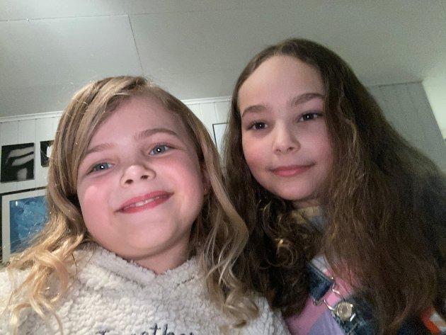 TIL VOKSNE: Alia og Edle i 3B på Nesheim skole har skrevet leserbrev til alle voksne.