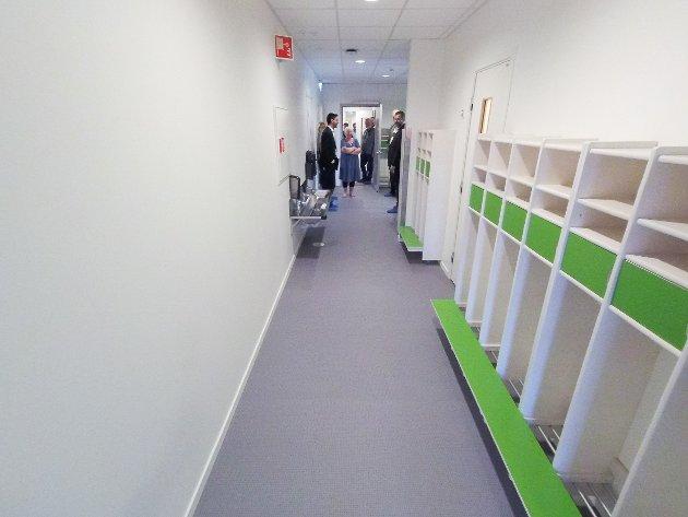 God garderobeplass i gangene.