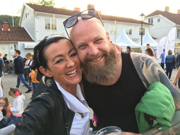 Ellen Irene Røkaas og Tom Hansen frydet seg mest over folkefesten.