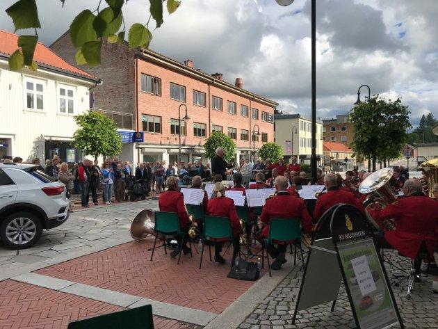 Kanonlotteriet 2019. KV-musikken spilte. Foto: Stine Ljungquist Knudsen