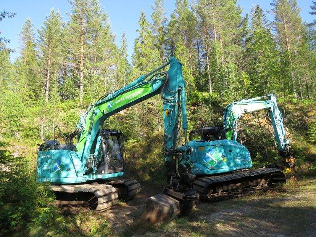 Kongsberg komune sørget for å parkere gravemaskinene ved Bjørkeseter i den viktigste hekke- og yngletida.