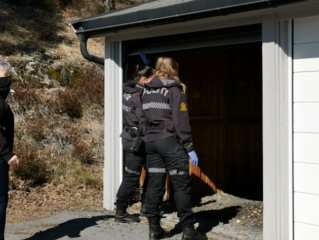 En garasje var interessant for politiet.