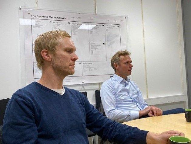 Lokallagsleder/gruppeleder Per Fossen Hals og 1. nestleder i Sp Ola Borten Moe