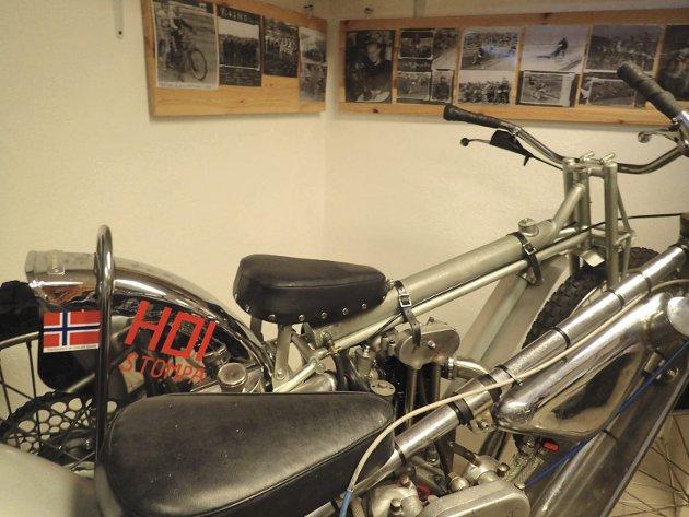 Historisk: Dette er motorsykkelen som Henry Stompa Andersen vant EM på Bislett med i 1955.