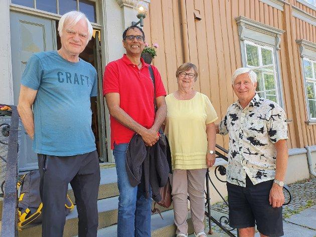 Helsepolitisk utvalg i Nasjonalforeningen Trøndelag, (f.v): Reidar Tessem, Roger Santokhie, Kari Kjerkol og Bjørn Østby