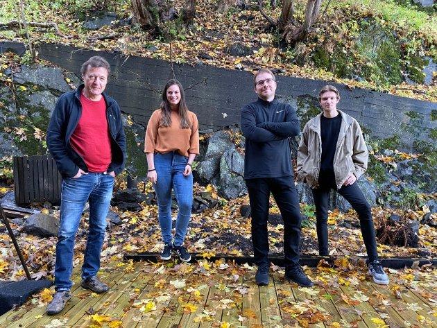 Dag Arnesen, Elisabeth Lid Trøen, Ole Marius Sandberg og Sigurd Steinkopf - et lag fra Bergen som garantert ikke rykker ned. Foto: Yngve Sætre