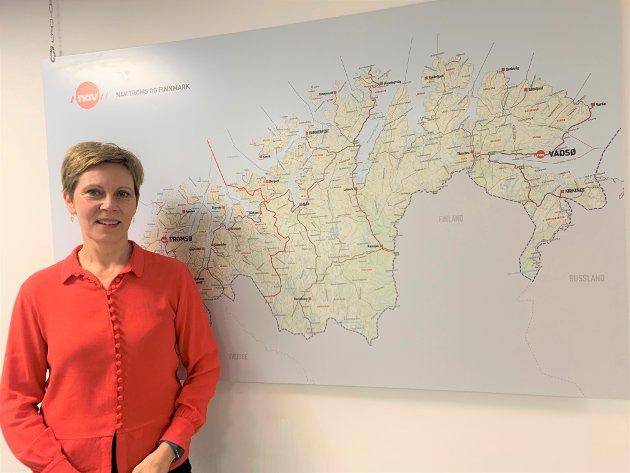 Grete Kristoffersen (bildet) er direktør for NAV i Troms og Finnmark