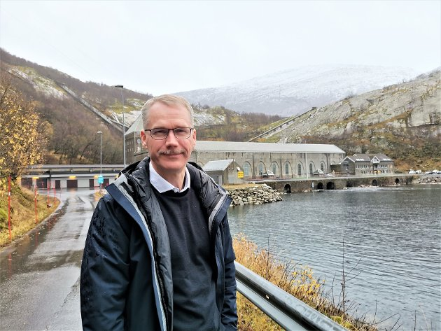 Christian Torset ved Glomfjord kraftstasjon