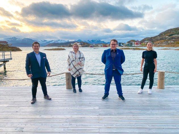 Troms og Finnmark FpU ønsker mer frihet på fjellet. Fra venstre: Alexander Wollmann, Malin Nordheim, Emil-Andre Taftø og Martine Tennholm.