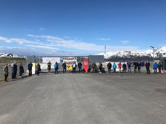NKP deltok i demonstrasjonene på Tønsnes 7.juni 2020
