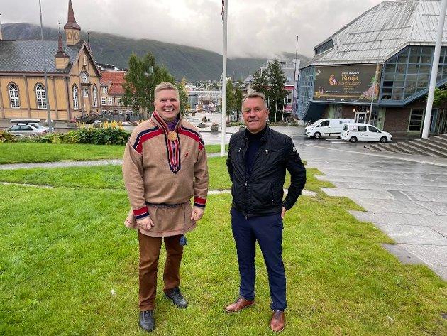 Arbeiderpartiets presidentkandidat Ronny Wilhelmsen og Tromsø-ordfører Gunnar Wilhelmsen