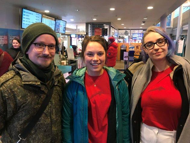 Aleksander Amundsen, Kristin Lome og Ulrikke Lindseth: - Jeg elsker alle folkene som er her. Det er stor variasjon: turister, tromsøværinger, folk fra hele landet. Dette er bred kultur som favner alle.