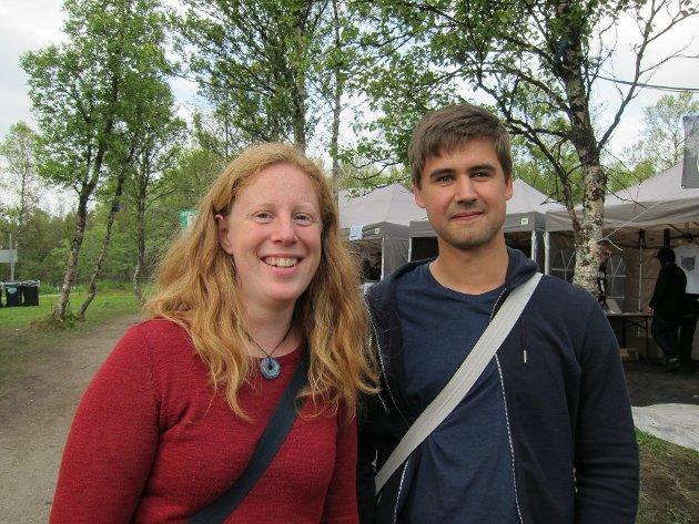 - Vi kom hit for å se Daniel Norgren, sier Jakob Suld, fra Sverige, sammen med Hanneke Luijting fra Nederland. (Foto: Fredrick T. Mortvedt)