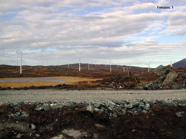 Inne fra vindkraftverket Raudfjell