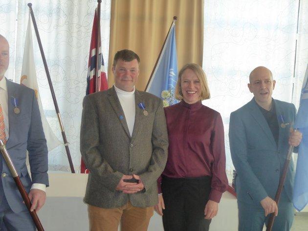 Leder for Forsvarets Utenriks- og Forsvaretskomitè, Anniken Huitfeldt og UNIFIL-veteran Jan Holthe.