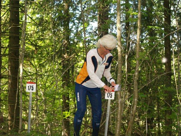 Vanja Staff fikk en første plass og en tredje plass i D 55 år.